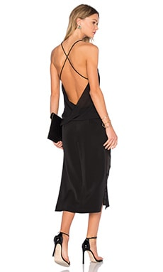 Strapped Backless Midi Dress