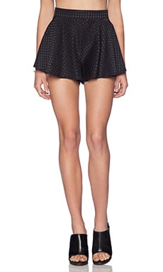 MLM Label Swing Shorts in Black Spot Embossed