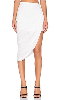 MLM Label Pullback Midi Skirt in White