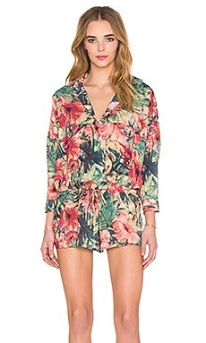 MLM Label Anorak Romper in Tropic Animal