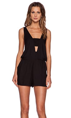 MLM Label Bandeau Romper in Black