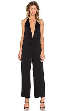 MLM Label Halter Jumpsuit in Black