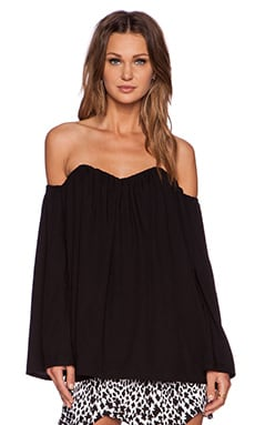 MLM Label Plume Top in Black