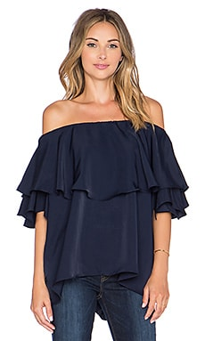 MLM Label Maison Off The Shoulder Top in Blue