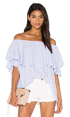 Maison Shoulder Top en Thistle Blue