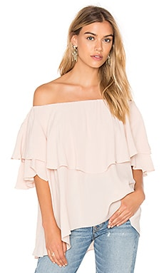 MLM Label Maison Shoulder Top in Shell Pink