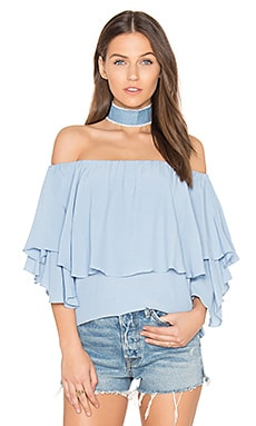 Maison Shoulder Top in Arctic Ice Blue