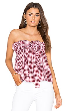 Sahara Tie Top in Red Chili Check