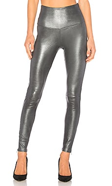 High Waisted Band Leggings With Zippers