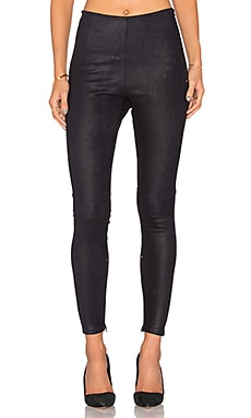 High Waisted Suede Legging in Merine