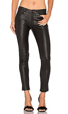 MLML Leather Skinny Jean in Black