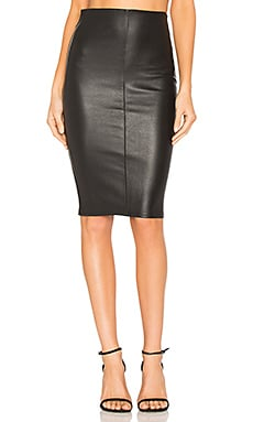 High Waist Slit Skirt in Black