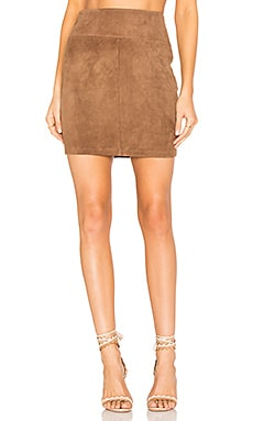 Suede Mini Skirt in Sand