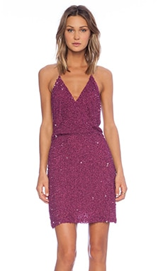 MLV Mira Spaghetti Strap Sequin Dress in Raspberry