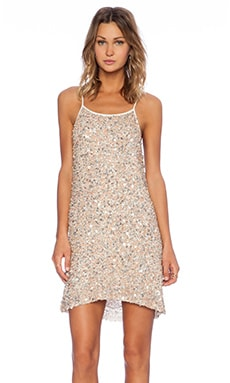 Gina Hoop Sequin Dress in Ivory