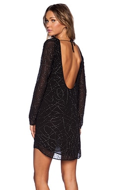 MLV Helen Long Sleeve Beaded Dress in Black