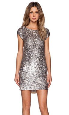MLV Cassidy Sequin Dress in Ecru