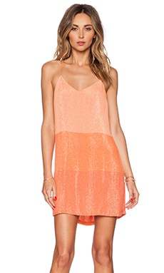 MLV Carmen Sequin Stripe Mini Dress in Dreamsicle