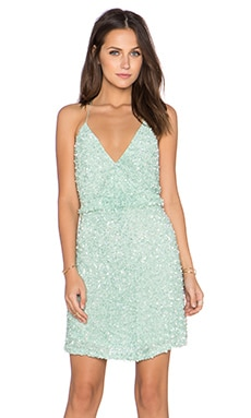 MLV Mira Spaghetti Strap Sequin Dress in Mint
