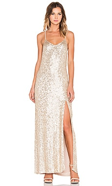 MLV London Sequin Maxi Dress in Gold