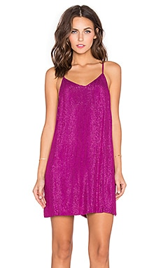 MLV Carmen Sequin Dress in Magenta