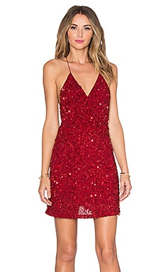 MLV Mira Sequin Dress in Ruby