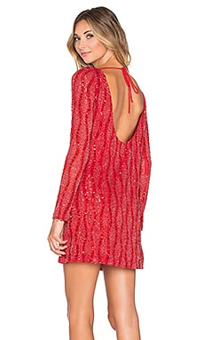 Tyler Sequin Dress in Ruby