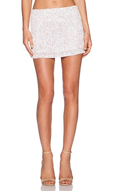MLV Bonnie Sequin Skirt in Ivory