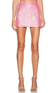MLV Justin Sequin Mini Skirt in Carnation