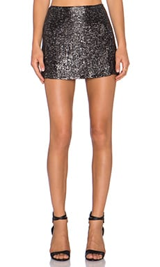 MLV Shannon Sequin Skirt in Black