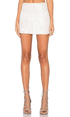 MLV Justin Sequin Mini Skirt in White