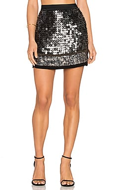 MLV Meg Sequin Skirt in Black