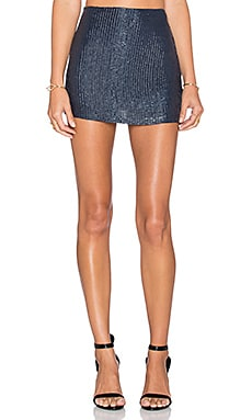 MLV Shannon Sequin Skirt in Navy
