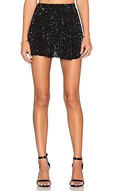 MLV Nancy Sequin Skirt in Black