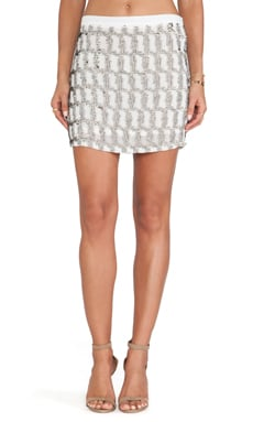 MLV Madelaine Sequin Skirt in White