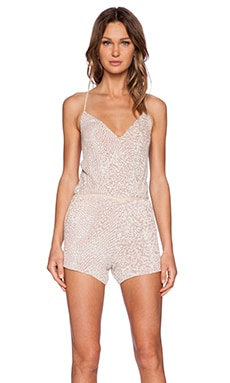 MLV Brooklyn Sequin Romper in Ivory