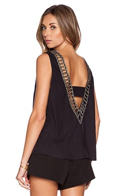 MLV Luna Embellished Top in Black