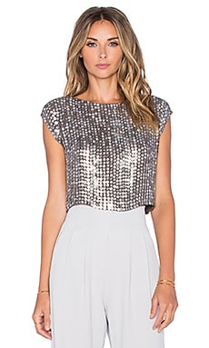 MLV Presley Sequin Top in Silver