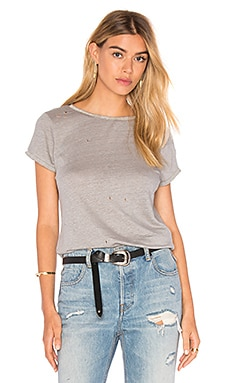 MLV Heather Embellished Top in Dove Gray