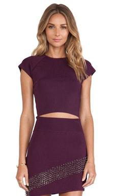 MLV Kim Crop Top in Purple