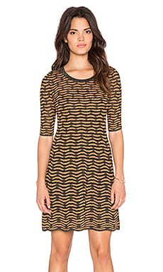 M Missoni 3/4 Sleeve Dress in Black