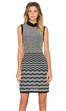 M Missoni Ripple Stitch Fit and Flare Dress in Black