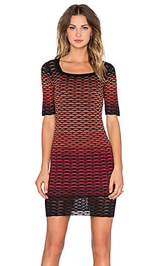 M Missoni Gradiant Fan Bodycon Dress in Red