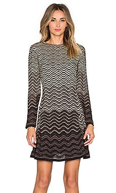 M Missoni Ripple Stitch Lurex Mini Dress in Black