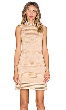 Solid Lurex Mini Dress in Peach