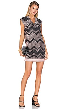 M Missoni V Neck Shift Dress in Pink
