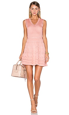 M Missoni V Neck Tank Dress in Blush