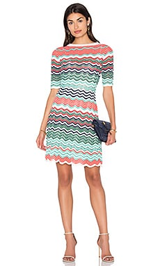 Fit & Flare Zig Zag Mini Dress