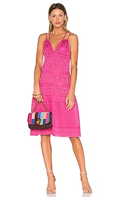 Sleeveless Midi Dress in Pink