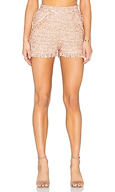 M Missoni Fringe Short in Blush